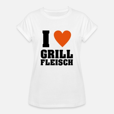 I Love Meat I love grilled meat - Women's Oversize T-Shirt