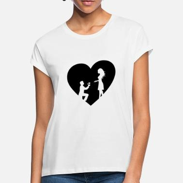 Marriage Proposal Marry Heart engagement Marry marriage proposal - Women's Loose Fit T-Shirt