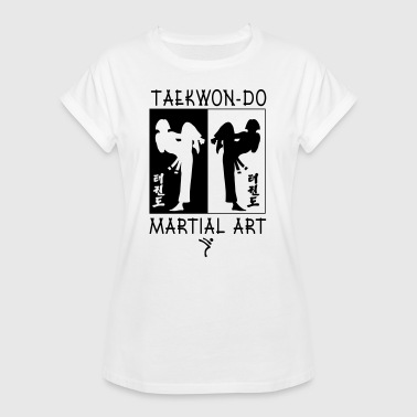 Taekwondo Martial Art for Girls - Women's Oversize T-Shirt