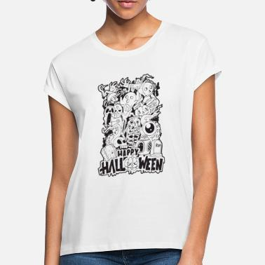 Halloween Happy Halloween | Cool Illustration Design - Oversize T-shirt dame