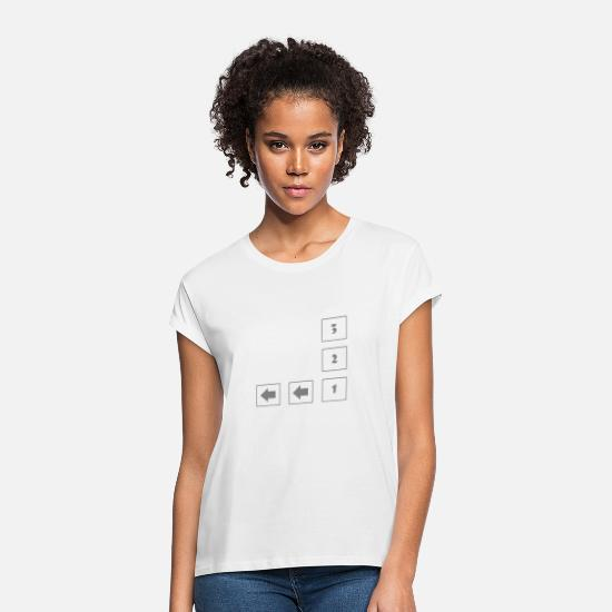 Gift Idea T-Shirts - Three two one - Women's Loose Fit T-Shirt white