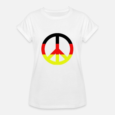 Pacifist Peace Sign Pacifist Germany Gift - Women's Oversize T-Shirt