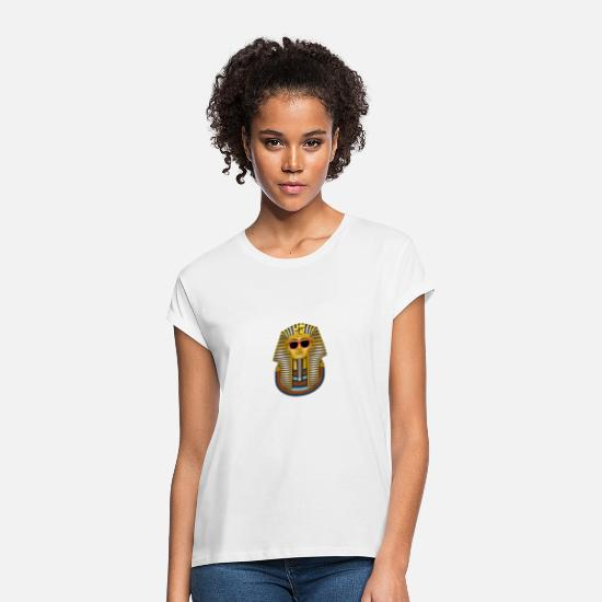 Gift Idea T-Shirts - Cool pharaoh - Women's Loose Fit T-Shirt white