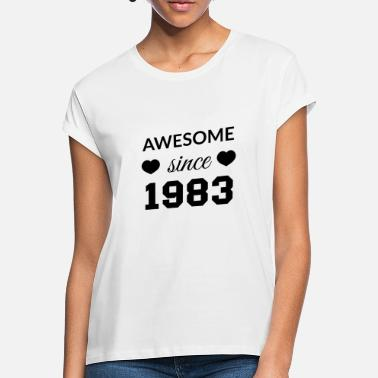Awesome Since awesome since 1983 - Frauen Oversize T-Shirt