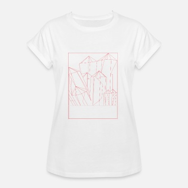 Crystal Crystal red - Women's Oversize T-Shirt