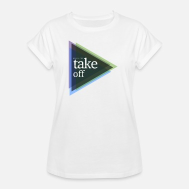 Take Off Plane ready for take-off - Women's Oversize T-Shirt