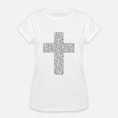 Cross from font (black) - Women's Oversize T-Shirt
