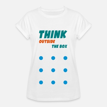 Connect 4 CONNECT 9 DOTS WITH 4 LINES - Women's Oversize T-Shirt