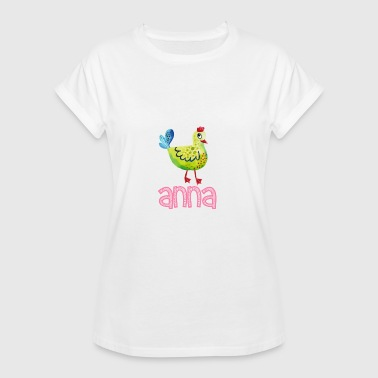 Anna My Name Gift Baby's vogel - Vrouwen oversize T-shirt