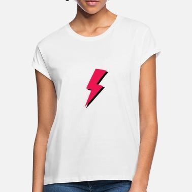 203f283b9b Frío Dibujos Animados rayo rojo relámpago de dibujos animados tormenta  eléctrica gewitte - Camiseta holgada mujer
