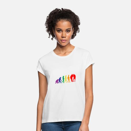 Darwin T-Shirts - Evolution of LGBT Evolution - Women's Loose Fit T-Shirt white