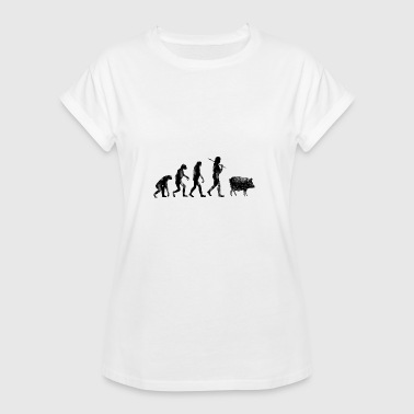 Evolution Of The Pig Evolution of humanity pig - Women's Oversize T-Shirt
