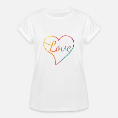 Love With Heart Love with heart - Liebe - Frauen Oversize T-Shirt