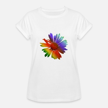 Marguerite colorful marguerites in the colors of the rainbow - Women's Oversize T-Shirt