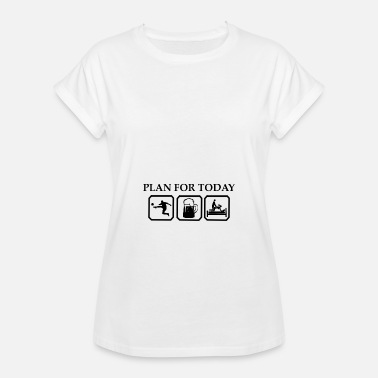 Sex Sport Plan for today Football Beer Sex Gift Sport - Women's Oversize T-Shirt