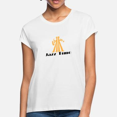 Saxeophonist Jazz Time musician with saxophone and trumpet - Women's Loose Fit T-Shirt