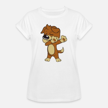 Humour Dabbing Dab chien - T-shirt oversize Femme