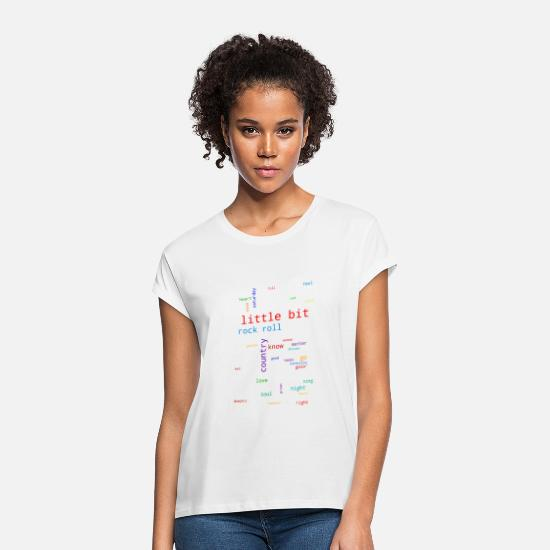 Rakete T-Shirts - A Little Bit Country A Little Bit Rock N Roll - Frauen Oversize T-Shirt Weiß