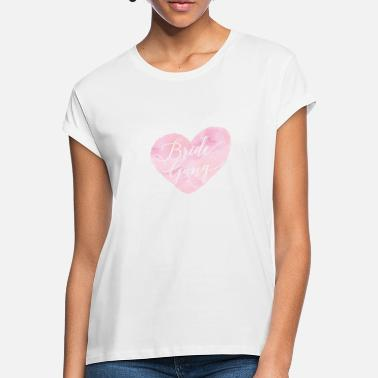 Gang bride_gang_watercolour_heart - Frauen Oversize T-Shirt