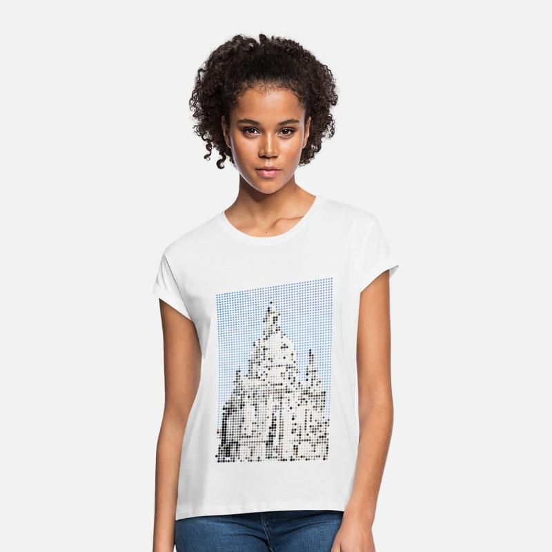 Gift T-Shirts - Dresden - Vrouwen oversized T-Shirt wit