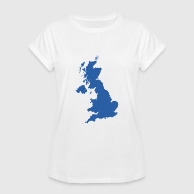 Shop uk flag map t shirts online spreadshirt uk map womens oversize t shirt gumiabroncs Image collections