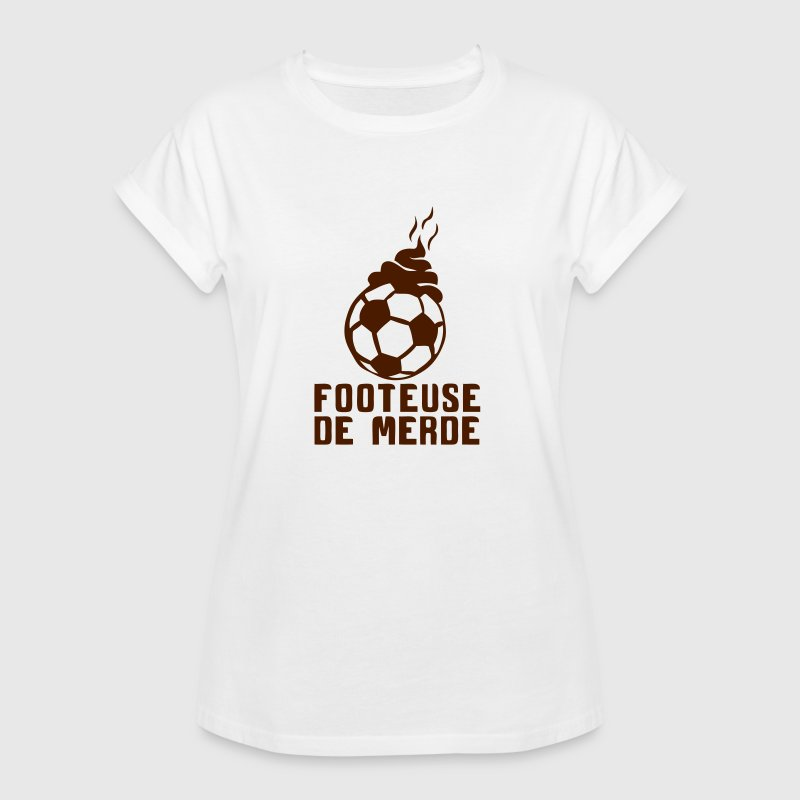 footeuse de merde football citation - T-shirt oversize Femme