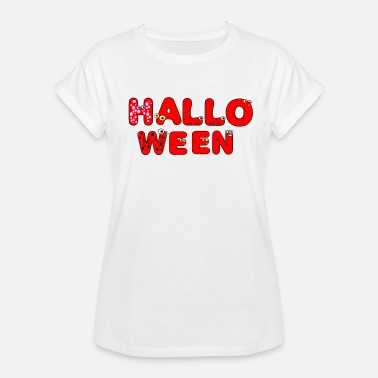 Monsters Letter Halloween kids lettering monster letters - Women's Oversize T-Shirt