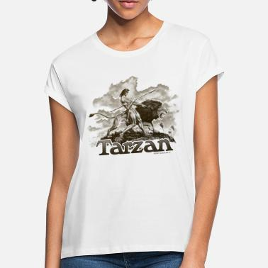 Tarzan Wild Lion Cool Drawing - Women's Loose Fit T-Shirt