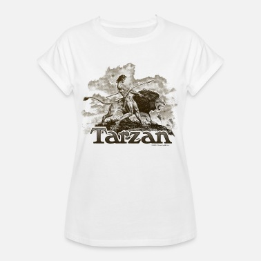 Tarzan Wild Lion Cool Drawing - Dame oversize T-shirt
