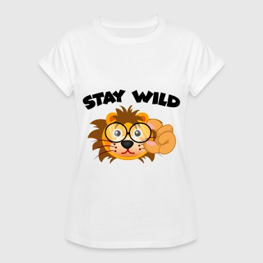 Glass Tiger Stay Wild - Women's Oversize T-Shirt