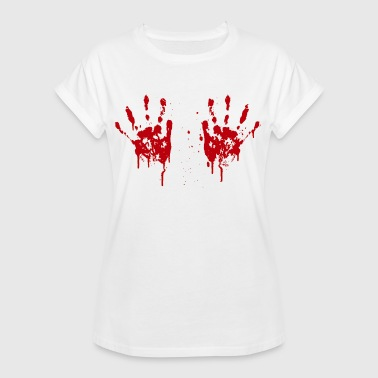 Bloody hands boobs - Women's Oversize T-Shirt