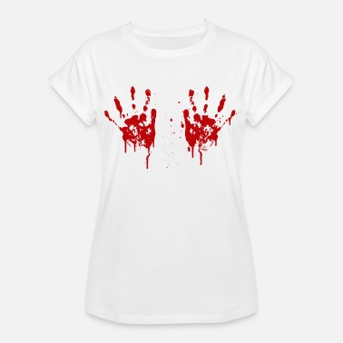 Squeezie Bloody hands boobs - T-shirt oversize Femme