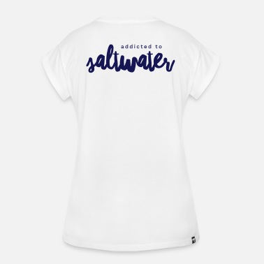 Leijasurffaaja Addicted to Salt Water - Naisten oversized-t-paita