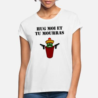 Pote Embrace mig at sige Mexico Cactus French - Oversize T-shirt dame