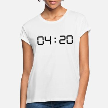 Display 420 digitale klok - Vrouwen oversized T-Shirt