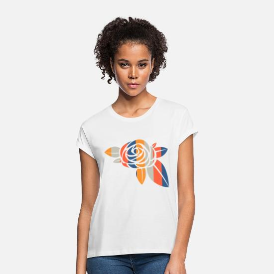 Love T-Shirts - rose - Women's Loose Fit T-Shirt white