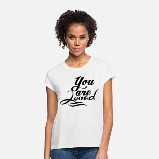 Familie T-shirts - You are loved - Vrouwen oversized T-Shirt wit