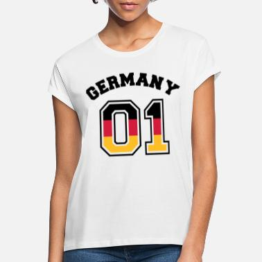 Fussballer-germany-01 Deutschland 01 - Germany 01 - Flagge - BRD - DE - Frauen Oversize T-Shirt