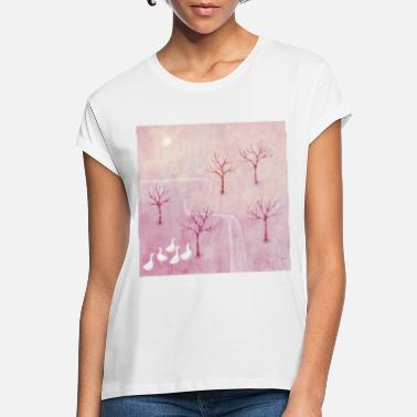 Orchard Geese in the Orchard - Women's Loose Fit T-Shirt