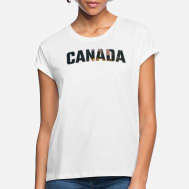 Canada Skyscrapers City Skyline Gift - T-shirt oversize Femme