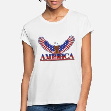 American Eagle American Bald Eagle Happy Independence Day Gift - Women's Loose Fit T-Shirt