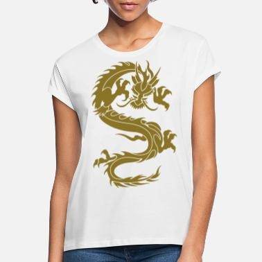 Tribal Dragon chinese dragon tribal - Women's Loose Fit T-Shirt