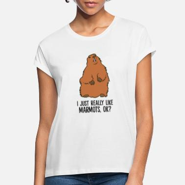 Marmot I Just Really Like Marmots, Ok? Cute Marmots - Women's Loose Fit T-Shirt