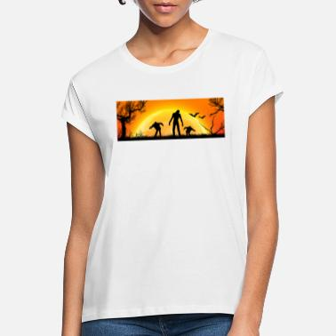 Halloween_Zombies - Frauen Oversize T-Shirt