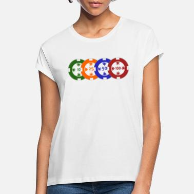 Pokerchips Pokerchips transparent - Frauen Oversize T-Shirt