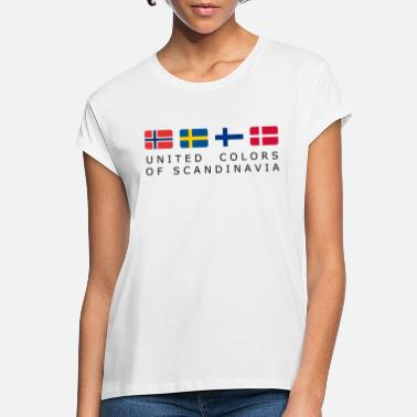 Scandinavia UNITED COLORS OF SCANDINAVIA black-lettered - Women's Loose Fit T-Shirt
