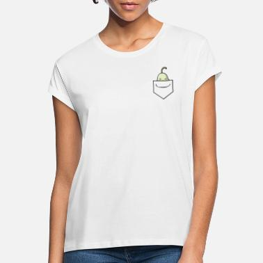 WOMEN'S BERRY MUCH 'POCKET FRUIT' PEAR - Women's Loose Fit T-Shirt