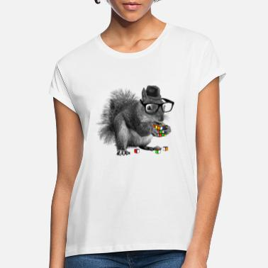 Rubik's Squirrel - Frauen Oversize T-Shirt