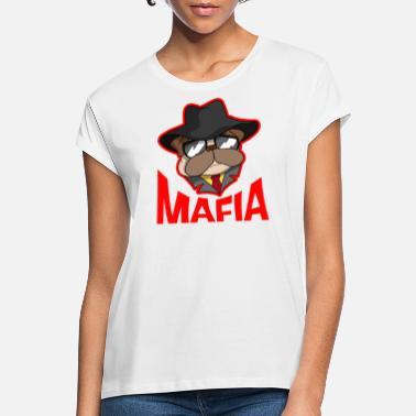 Gangster Mafia gangster pug with cigar gift - Women's Loose Fit T-Shirt
