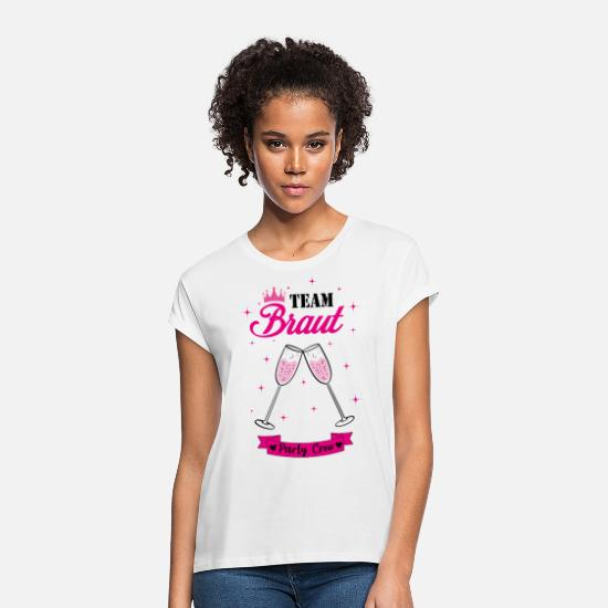 Gift T-shirts - Team Bride Hen Party Vrijgezellin - Vrouwen oversized T-Shirt wit